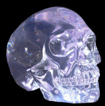 Crystal Clear Human Skull
